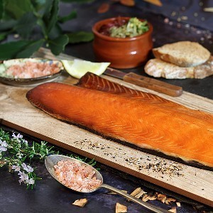 Barbecued Hot Smoked Salmon
